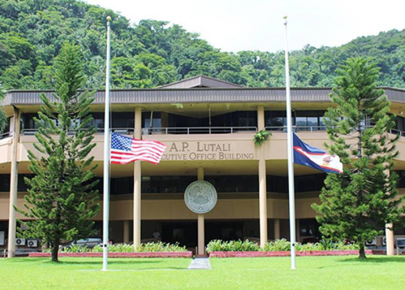 Flags lowered to half staff in respect for the half million lost to COVID-19
