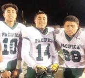 #68 (Junior), David Jake Aina, #14 (Senior), Faamaini Joshua Aina, #10 (Junior), Faleapoi Julio Ain
