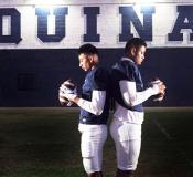 Aquinas High School football players Francisco Mauigoa, 16, (L), and Francis Mauigoa, 14, (R)