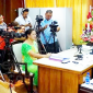 Tuilaepa talking with reporters earlier this week