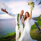 The Rock and bride, Lauren Hashian