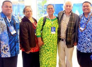 (left to right) Evile Feleti, Tamari Mulitalo-Cheung, SSI Director Okenaisa Fauolo-Manila, His Highness Tamasese, and Maseuli Faleosalafai Tipa.