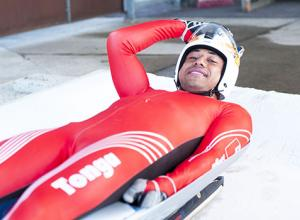 Bruno Banani, a Tongan luger who qualified for the 2014 Winter Olympic Games