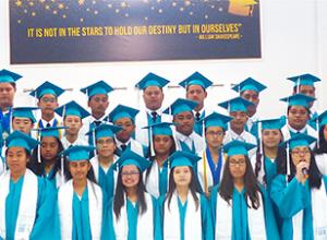 Manumalo Academy's 8th grade Class of 2019