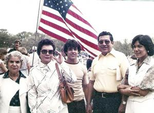 Ciprian Contreras, second from right, with sunglasses