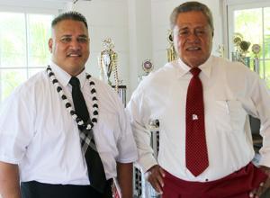 Candidate for lieutenant governor Tapumanaia Galu Satele Jr., and candidate for governor, Nuanuaolefeagaiga Saoluaga T. Nua.