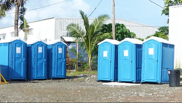 Portable toilets at Nuuuli Vo-Tech