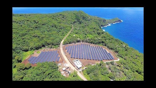 Solar panels on Tau Island