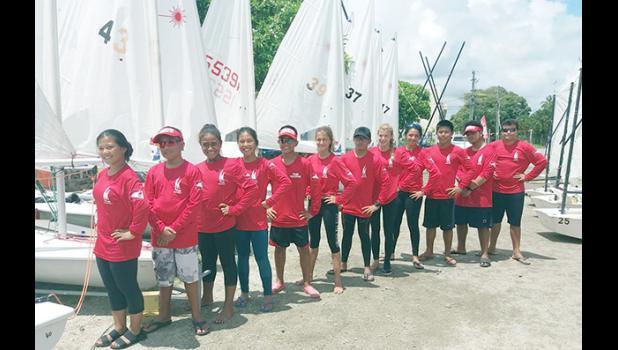A team of 13 sailors