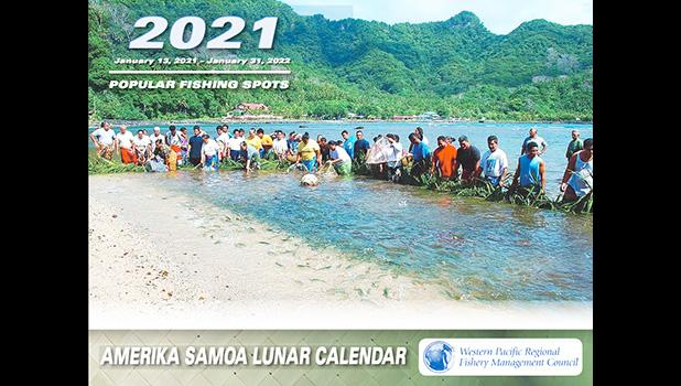 Front of the 2021 American Samoa Lunar Calendar