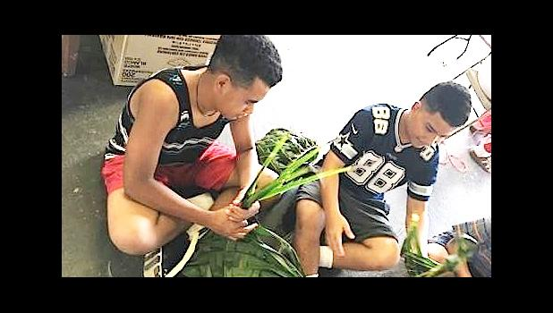 As part of the FIT summer program, students were immersed into the world of traditional Samoan weaving when they took a field trip to get hands-on experience under the watchful eye of the folks from the Territorial Administration on Aging (TAOA). [Courtesy photo]