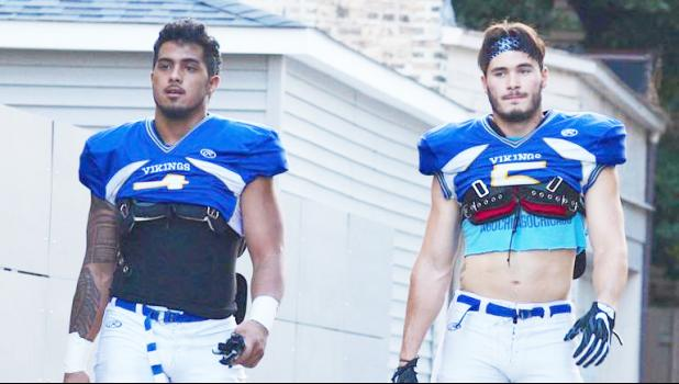 Chaun Maiava and Matt Difecchio have both earned the All-College Conference of Illinois and Wisconsin Second Team Defense honors for the 2016 North Park Football Season. This was Maiava's second recognition in a row from the All-College Conference.  [Courtesy photo]