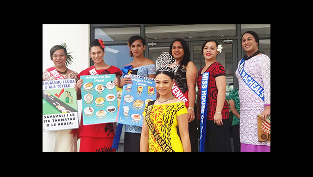 "This year, the Ministry of Health is bringing the event to the stage for the title Miss Health Faafafine 2016 with the theme ""Eat The Colors Of The Rainbow"" to promote healthy eating of a variety of colored fruits and vegetables on the island.  This year's pageant's contestants are pictured with the reigning Miss Samoa Faafafine 2015, Steva Auina (front in yellow with tiara)  Miss Steva Auina is from Auckland, NZ, and has done a phenomenal amount of charity work, according to the SFA. She has been to Samoa"