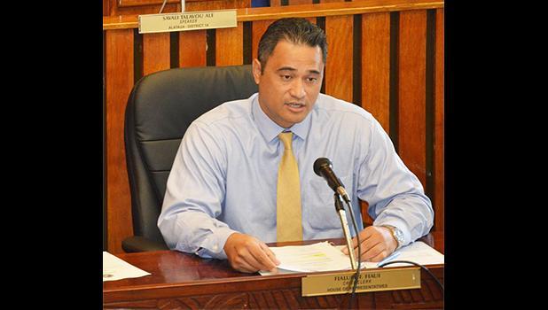Attorney General Talauega Eleasalo V. Ale [SN file photo]