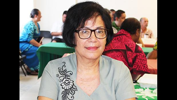 Administrative Law Judge (ALJ) Pro Tempore, Marie A. Alailima during Wednesday's cabinet meeting. [photo: FS]