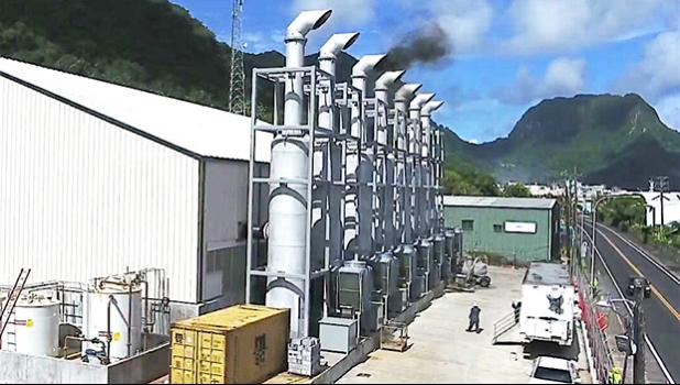 """This photo provided by ASPA, shows the """"first smoke"""" of engine number 3 on March 3, 2017 —considered an important milestone for the new Satala Power Plant. [SN file photo]"""