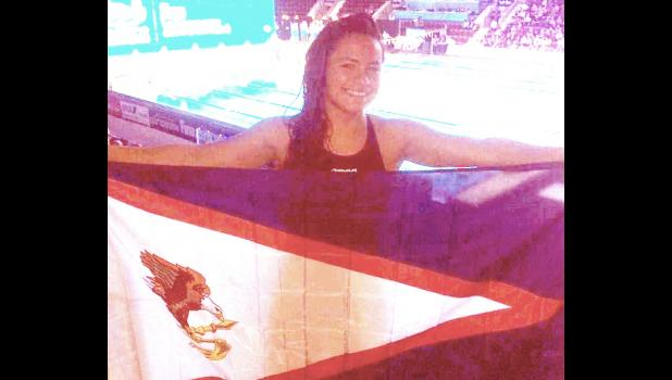 Tilali Scanlan 17-year-old of Vaitogi feels honored and proud to have represented American Samoa earlier this month at the FINA World Swimming Championship in Ontario, Canada.  [Courtesy photo]