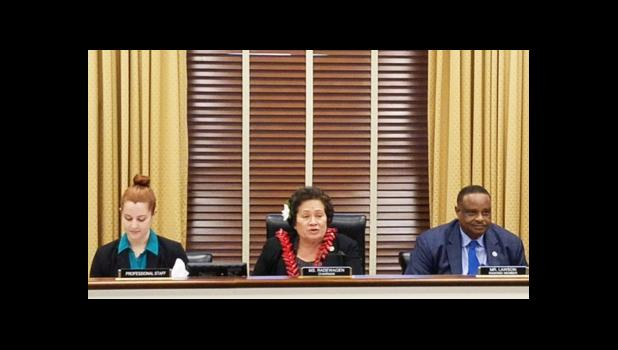 Amata chairs hearing last week in Congress. [courtesy photo]
