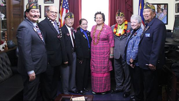Amata and VFW representatives met to discuss VA services and health care [photo: courtesy]