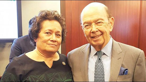 Amata with Secretary Ross after their discussion.  [Courtesy photo]
