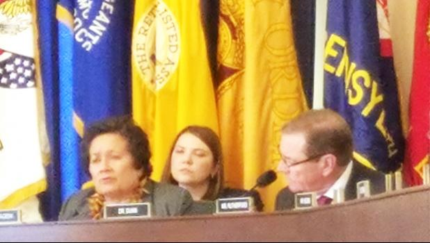 Congresswoman Aumua Amata questioning the panel about veterans' health access in American Samoa. See press release for details.  [photo: courtesy]