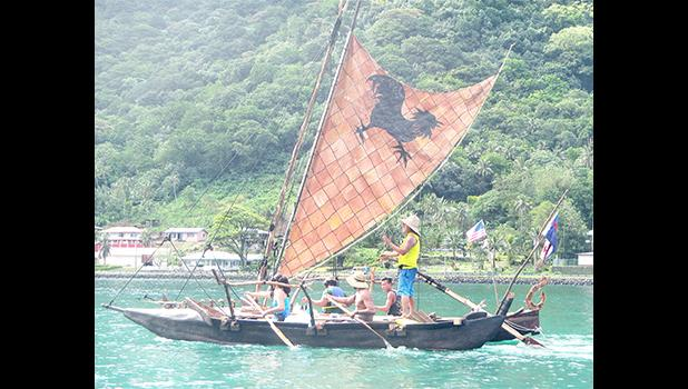 Everyone is excited to welcome the sailing 'alia canoe, 'Apaula' to Tisa's Annual Tattoo Festival 2017.  [courtesy photo]