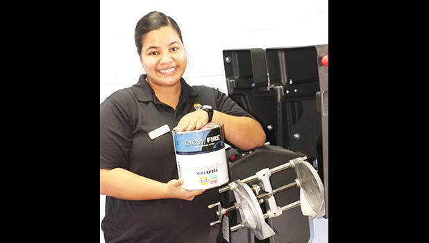 NAPA Samoa is launching its newest product — car paint. The company is sponsoring store supervisor Sharane Smith, 23, from Aua (pictured) as a contestant in this year's Miss American Samoa pageant. [photo: courtesy]