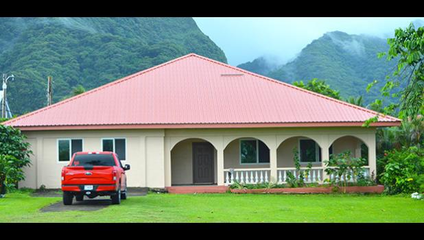 The CCCAS General Secretary home at Kanana Fou where Rev. Amaama Tofaeono and his family resided after he was elected General Secretary in July 2016. The court has ruled that Amaama and his family vacate the home no later than Friday, March 30.  [photo: AF]
