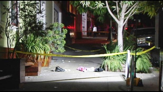 The double shooting was reported in the 3700 block of 26th street in San Francisco, which is where the  First Samoan Congregational Church was holding a funeral. May 7, 2018 [photo: KTVU]
