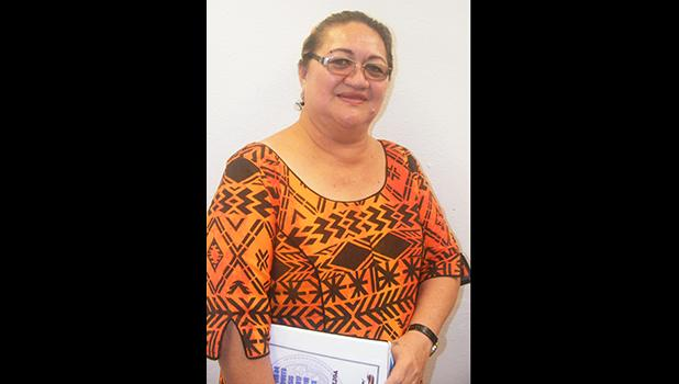 Catherine D. Aigamaua Saelua last Friday at the Fono after her Senate confirmation hearing as Budget and Planning Office director. The Fono has since officially confirmed her to the directorship post.  [photo: FS]