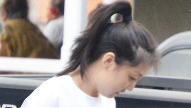 Wen Ting Chen outside of the District Court after her preliminary examination hearing last week Thursday.  [photo by AF]