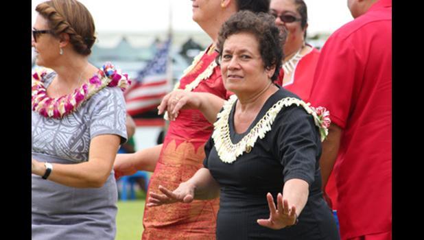 Congresswoman Aumua Amata at the 2015 Flag Day celebration. [SN file photo]