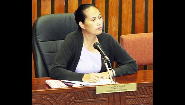Department of Public Works Acting Director, Faleosina Voigt has received the blessing of the House of Representatives.  [Photo: JL]