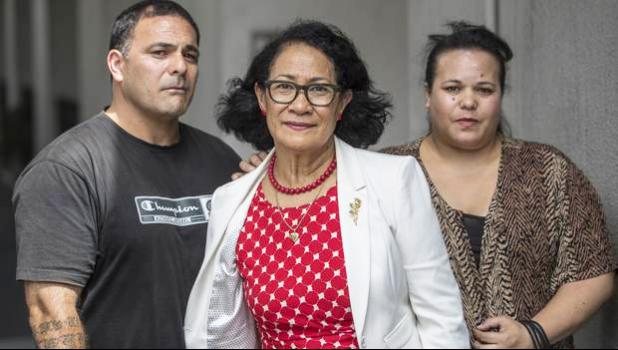 Nearly six years on the family claim they've been let down by Natasha and Nicholas Dalton, with lawyer Olinda Woodruffe (centre), hope to get justice for their brother Hans who died in police custody in Samoa in 2012. [Photo / Peter Meecham]
