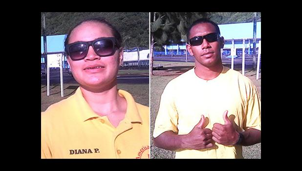 Ropate Delana (R)  and Princess Diana Pulu Iaulualo are members of the American Samoa Aquatic Agency (ASAA) Surf-Guard that were on hand last Saturday at the Su'igaula ole Atuvasa Beach Park during the DOC Annual Coastal weekend celebration. They rescued one man, who was not wearing a life jacket, when his kayak overturned and couldn't swim, as well as two young children who were swimming in the Utulei Beach area.   [photos: courtesy ASSA ]