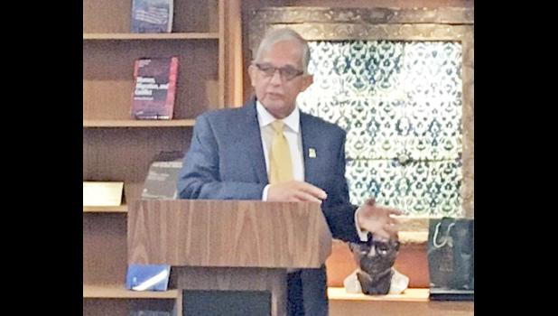 Dr. Underwood speaks at Georgetown University's Gov. Peter Tali Coleman lecture series. [courtesy photo]
