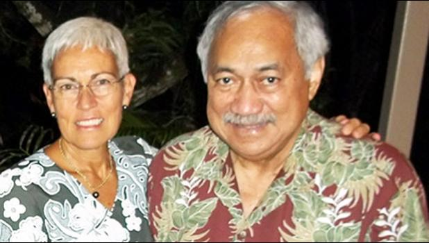 The late Congressman Faleomavaega Eni Hunkin and his wife Hinanui Hunkin. [SN file photo]
