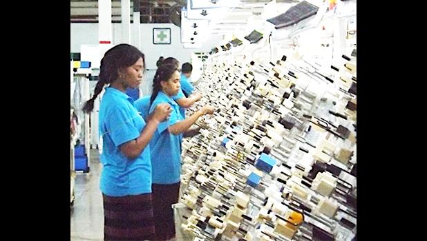 Thursday, Aug. 24, 2017 is Yazaki's last day of operation in Samoa, Its departure puts 700 people out of work. However there are at least two private manufacturing companies getting ready to set up for business in Samoa, which could take on many of the Yazaki out of work people.  (Photo: RNZI/ Autagavaia Tipi Autagavaia)