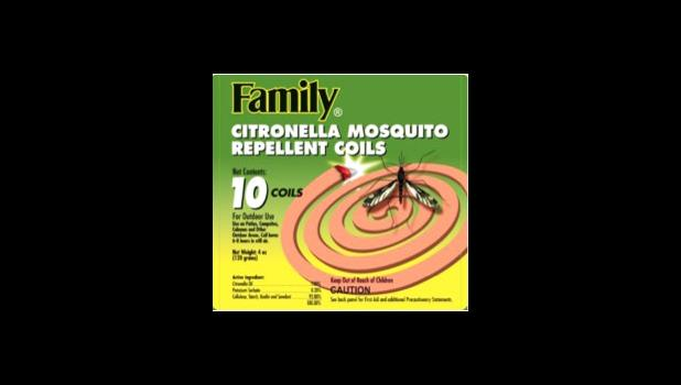 AS-EPA has approved this product —  FAMILY Citronella Mosquito Repellant Coils — for sale in the Territory, as it's been approved by the US EPA.  [Courtesy AS-EPA]