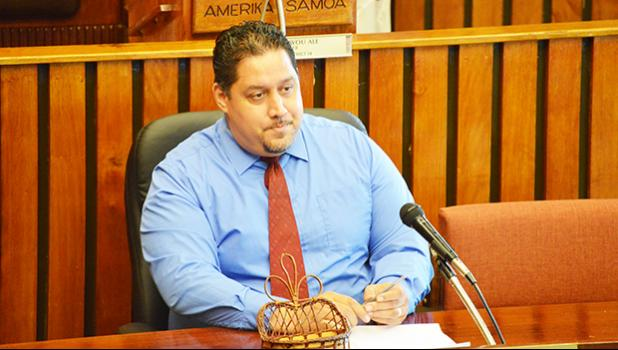 Public Defender, Douglas Fiaui during his confiration hearing earlier this month. [SN file photo]