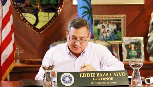 Guam's governor, Eddie Calvo.  [Photo: Office of the Governor of Guam]