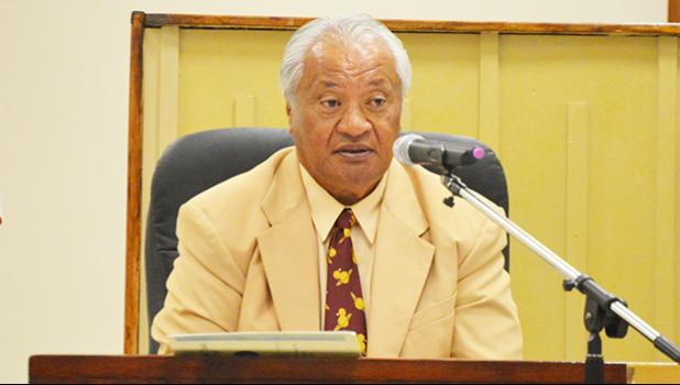 Speaker of the House, Savali Talavou Ale has approved a recommendation from Territorial Bank of American Samoa (TBAS) officials for a closed-door hearing with faipule today.  [photo: AF]