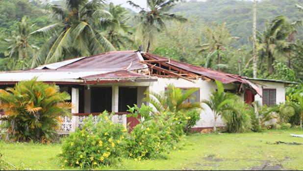 A home on the westside damaged by Tropical Storm Gita. [THA]