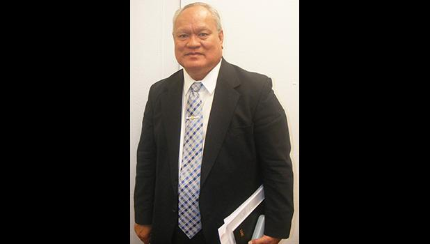 Le'i Sonny Thompson last Friday morning at the Fono after his Senate confirmation hearing as Police Commissioner, a post which he now officially holds after being confirmed by both the Senate and House.  [photo: FS]