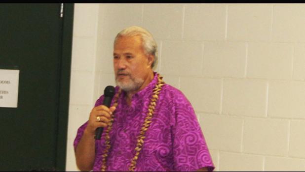 Secretary of the Office of Samoan Affairs, Paramount Chief, Mauga Tasi Asuega. [photo: AF]