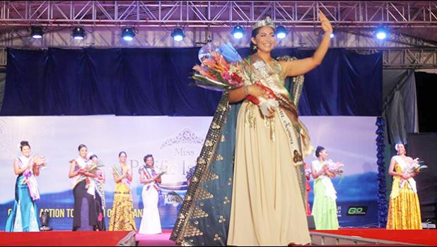 CONGRATULATIONS: The newly crowned Miss Pacific Islands, Matauaina Gwendolyn To'omalatai of American Samoa at the finale of the 31st Miss Pacific Islands Pageant at Prince Charles Park in Nadi, Fiji. [photo: Miss South Pacific Islands Facebook]