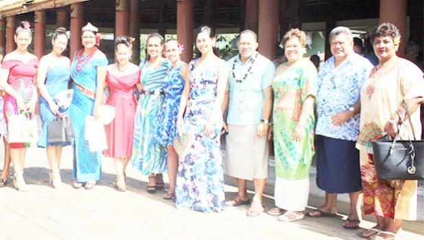 McDonald's Miss Samoa contestants with members of Samoa Events Incorporated, that hosted the pageant.  [Samoa Observer]