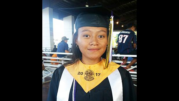 Valedictorian Christine Tominiko [photo: Blue Chen-Fruean]