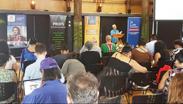 Part I of the Pacific Law, Custom and Constitutionalism Conference 2018 - Aotearoa NZ and Samoa in Dialogue  [Photo: RNZ Pacific / Sela Jane Hopgood]