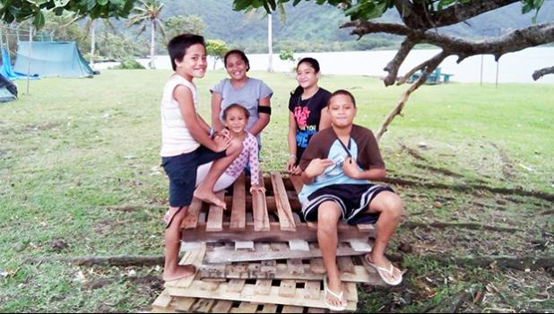 Pictured are some of the youngsters taking part in the ongoing camp activities.  [photo: Mike Espiritu]